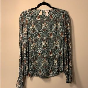 Morris & Co top green gorgeous size 6